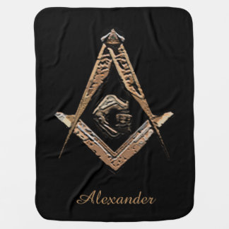 Masonic Minds (Golden) Baby Blanket