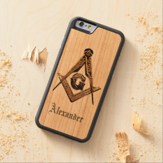 Masonic Minds (Golden) Carved Cherry iPhone 6 Bumper Case