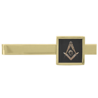 Masonic Minds (Golden) Gold Finish Tie Clip