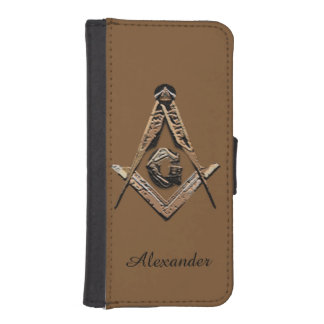 Masonic Minds (Golden) iPhone SE/5/5s Wallet