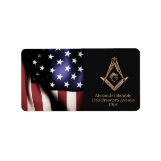 Masonic Minds (Golden) Address Label