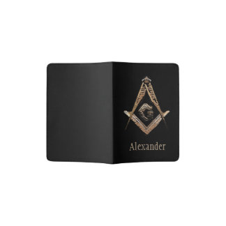 Masonic Minds (Golden) Passport Holder