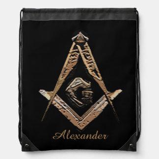 Masonic Minds (Golden) Cinch Bag
