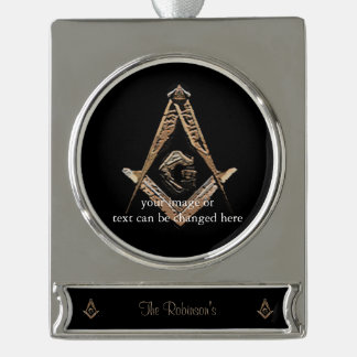 Masonic Minds (Golden) Silver Plated Banner Ornament