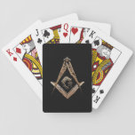 "Masonic Minds (Golden) Playing Cards<br><div class=""desc"">Freemasonry describes itself as a beautiful system of morality, veiled in allegory and illustrated by symbols. The symbolism is mainly, but not exclusively, drawn from the manual tools of stonemasons - the square and compasses, the level and plumb rule, the trowel, among others. A moral lesson is attached to each...</div>"