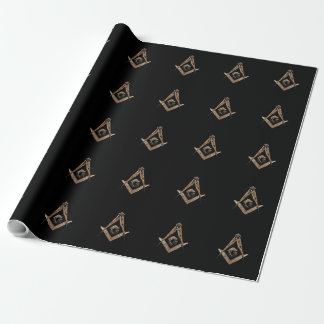 Masonic Minds (Golden) Wrapping Paper
