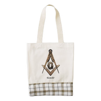 Masonic Minds (Golden) Zazzle HEART Tote Bag