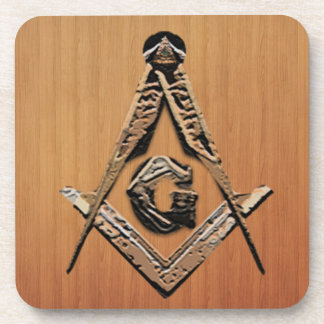 Masonic Minds (GoldenWooded) Coaster