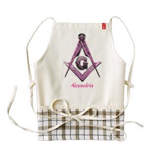 Masonic Minds (Pink) Zazzle HEART Apron