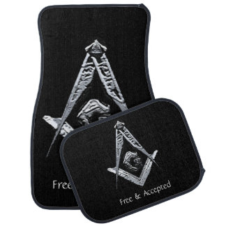 Masonic Minds (Silvery) Car Floor Mat