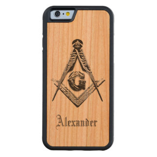 Masonic Minds (Silvery) Carved Cherry iPhone 6 Bumper Case