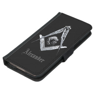 Masonic Minds (Silvery) Samsung Galaxy S5 Wallet Case