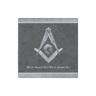 Masonic Minds (Silvery) Stone Magnet