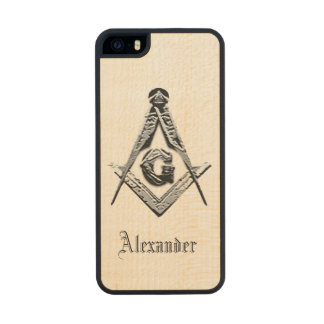Masonic Minds (Silvery) Wood Phone Case For iPhone SE/5/5s
