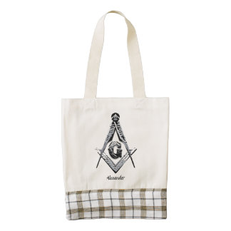 Masonic Minds (Silvery) Zazzle HEART Tote Bag