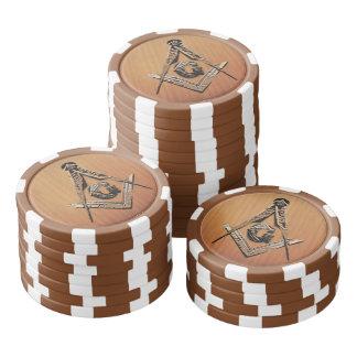 Masonic Minds (Wooded) Set Of Poker Chips