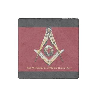 Masonic Minds (Yellowish) Stone Magnet