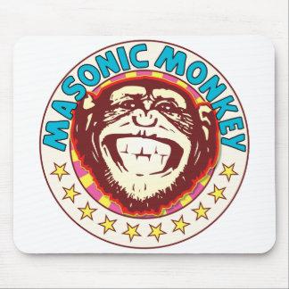 Masonic Monkey Mouse Pad