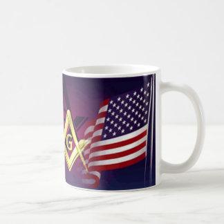 masonic classic white coffee mug
