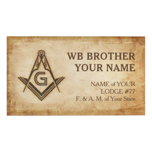 Masonic Name Badges | Old Rustic Parchment