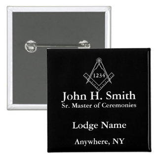 Masonic Nametag Button