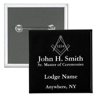 Masonic Nametag Button