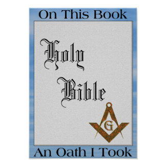 Masonic Oath Poster