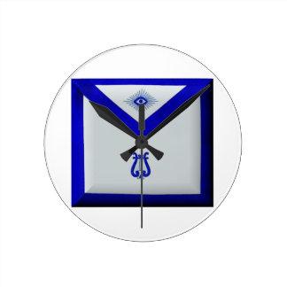Masonic Organist Round Clock