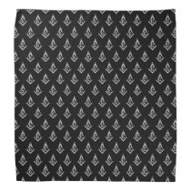 Masonic Pattern (Black) Bandana