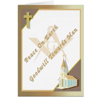 Masonic Peace on Earth Card