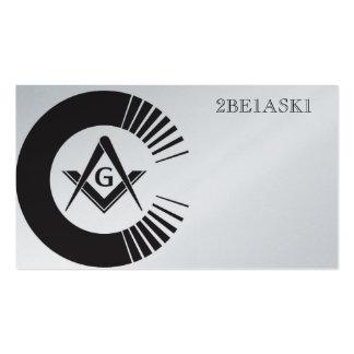 Masonic Personalized Business Card