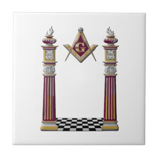Masonic Pillars Ceramic Tile