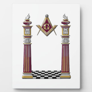 Masonic Pillars Plaque