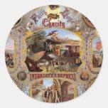 Masonic Poster Classic Round Sticker