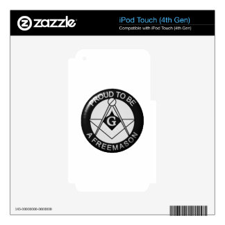 Masonic Pride Skins For iPod Touch 4G