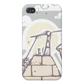 Masonic Pyramid Construction B iPhone 4 Case