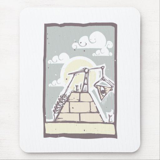Masonic Pyramid Construction B Mousepads