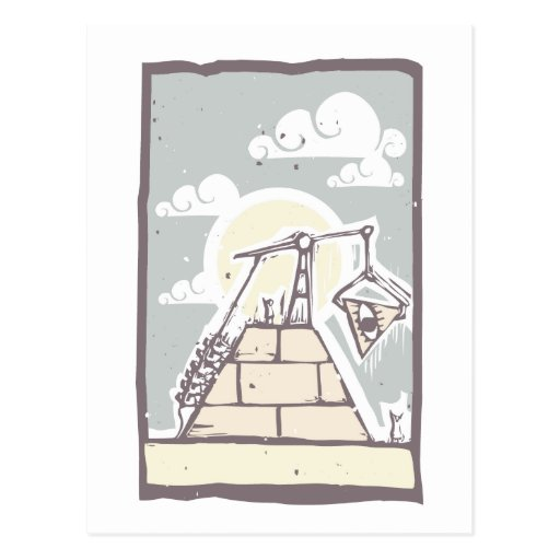Masonic Pyramid Construction B Postcard
