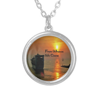 Masonic Quote Silver Plated Necklace