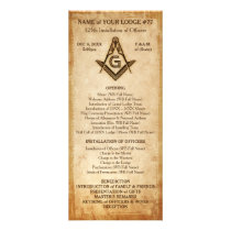 Masonic Rack Card Template | Old Rustic Parchment