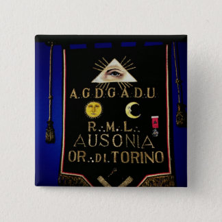 Masonic Regalia, from the Order of Turin Button