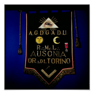 Masonic Regalia, from the Order of Turin Poster