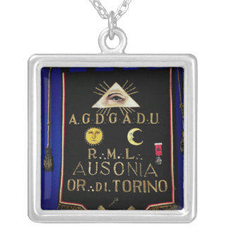 Masonic Regalia, from the Order of Turin Silver Plated Necklace