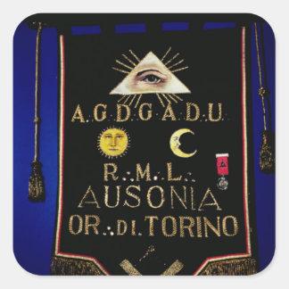 Masonic Regalia, from the Order of Turin Square Sticker