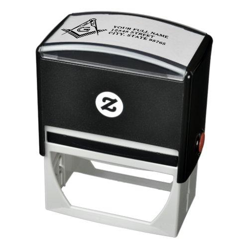 Masonic Return Address Rubber Stamps  Freemason