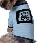 Masonic Route 66 Shield Dog T Shirt