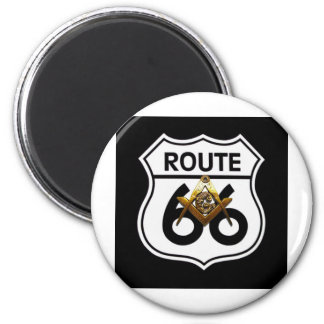 Masonic Route 66 Shield Magnet