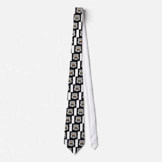 Masonic Route 66 Shield Neck Tie