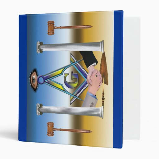 Masonic Scene 3 Ring Binder