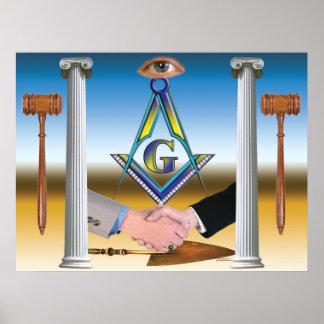Masonic Scene Poster